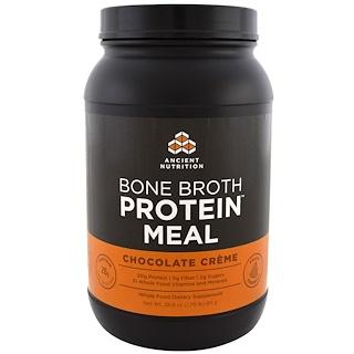 Dr. Axe / Ancient Nutrition, وجبة مرق بروتين العظام، كريمة الشوكولاتة، 28.6 أوقية (811 جم)