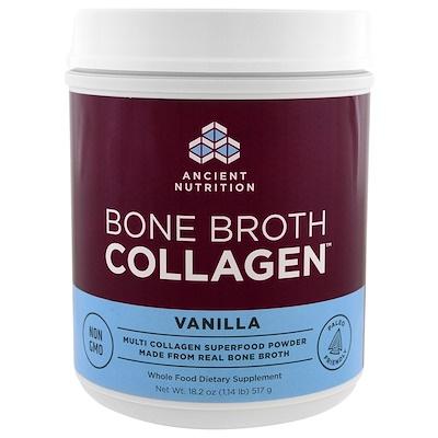 Фото - Bone Broth Collagen, коллаген со вкусом ванили, 517 г (1,13 фунта) n o xplode legendary pre workout со вкусом фруктового пунша 555 г 1 22 фунта