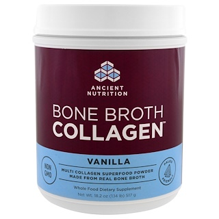 Dr. Axe / Ancient Nutrition, Bone Broth Collagen, Vanilla , 18.2 oz (517 g)