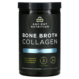 Dr. Axe / Ancient Nutrition, Bone Broth Collagen, Vanilla, 1.1 lbs (519 g)