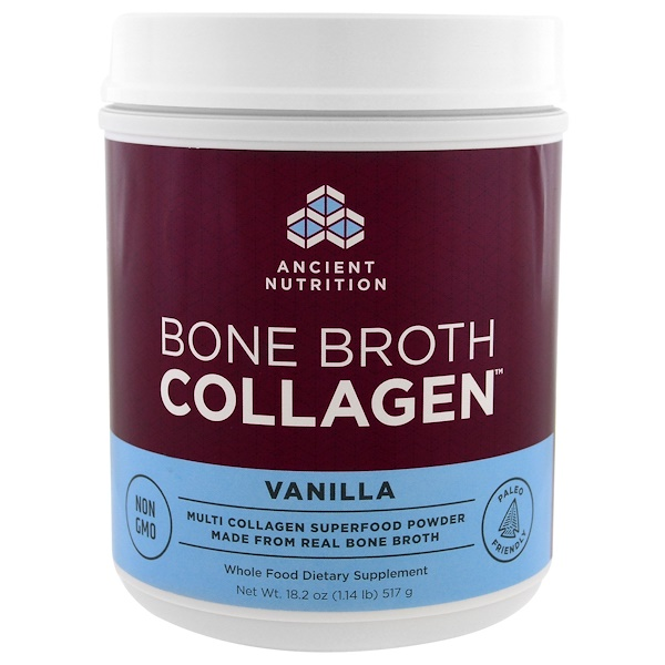 Bone Broth Collagen, Vanilla, 1.13 lbs (517 g)
