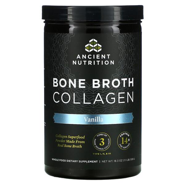 Bone Broth Collagen, Vanilla, 1.1 lbs (519 g)