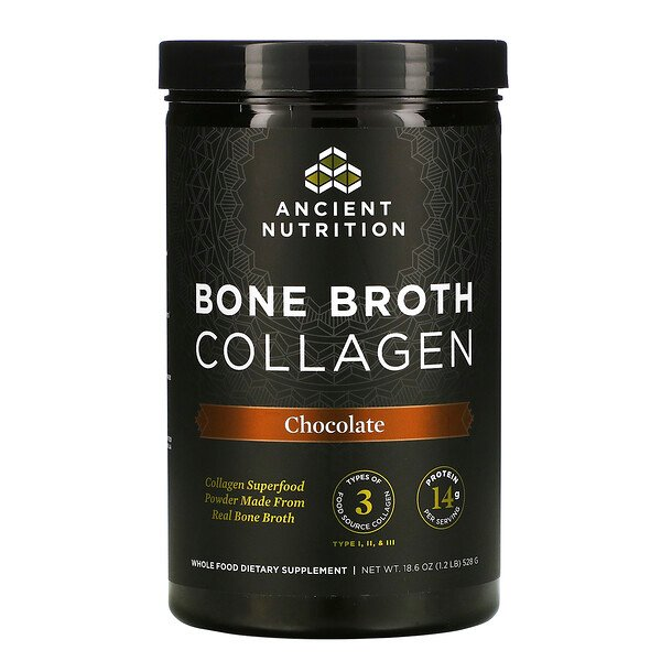 Bone Broth Collagen, Chocolate, 1.2 lb (528 g)