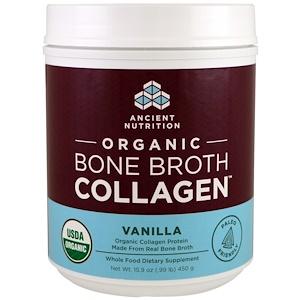 Dr. Axe / Ancient Nutrition, Organic Bone Broth Collagen, Vanilla, 15.9 oz (450 g) отзывы