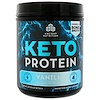 Dr. Axe / Ancient Nutrition, Keto Protein, Ketogenic Performance Fuel, Vanilla, 18.7 oz (530 g)