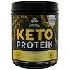 Dr. Axe / Ancient Nutrition, Keto Proteína, alimento cetogénico para el rendimiento, crema de banana, 19 oz (540 g)