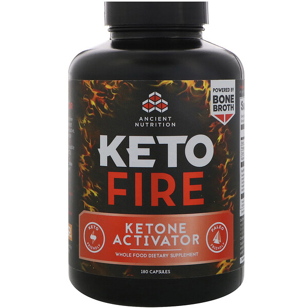 Dr. Axe / Ancient Nutrition, Keto Fire, Ketone Activator, 180 Capsules (Discontinued Item)