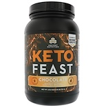 0c4e5b194a Dr. Axe / Ancient Nutrition, Keto Feast, Ketogenic Balanced Shake & Meal  Replacement, Chocolate, 1.57 lbs (715 g)