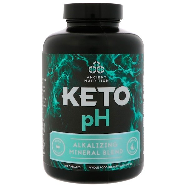 Dr. Axe / Ancient Nutrition, Keto pH, Alkalizing Mineral Blend, 180 Capsules (Discontinued Item)