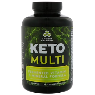 Dr. Axe / Ancient Nutrition, Keto Multi, Fermented Vitamin & Mineral Formula, 180 Capsules