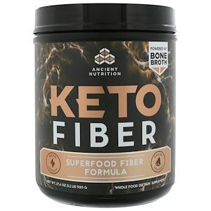 Dr. Axe / Ancient Nutrition, Keto Fiber, Superfood Fiber Formula, 1.1 lbs (500 g) отзывы