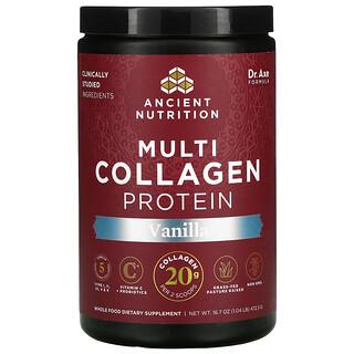 Dr. Axe / Ancient Nutrition, Protéines de multicollagène, Vanille, 472,5g