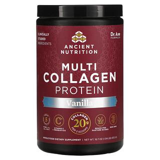 Dr. Axe / Ancient Nutrition, Multi Collagen Protein, Vanilla, 1.04 lb (472.5 g)
