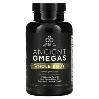 Dr. Axe / Ancient Nutrition, Ancient Omegas, Whole Body, 1,000 mg, 90 Softgels