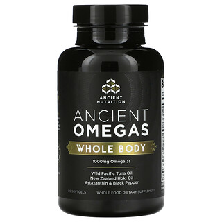 Dr. Axe / Ancient Nutrition, Ancient Omegas,全身,1000 毫克,90 粒軟凝膠