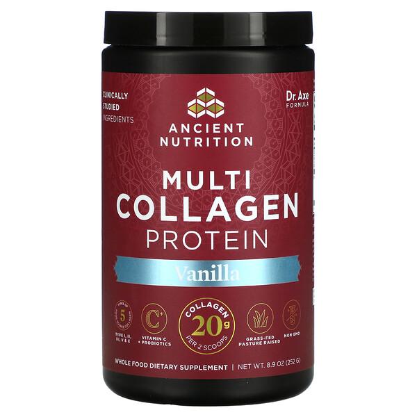 Multi Collagen Protein, Vanilla, 8.9 oz (252 g)
