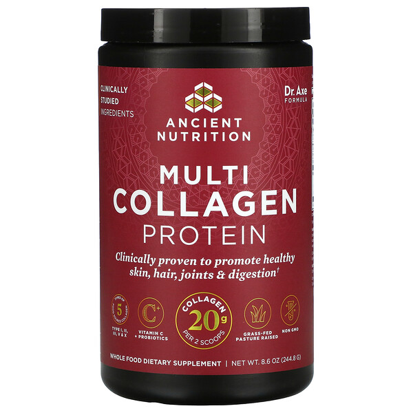 Dr. Axe / Ancient Nutrition, Multi Collagen Protein, 8.6 oz ( 244.8 g)