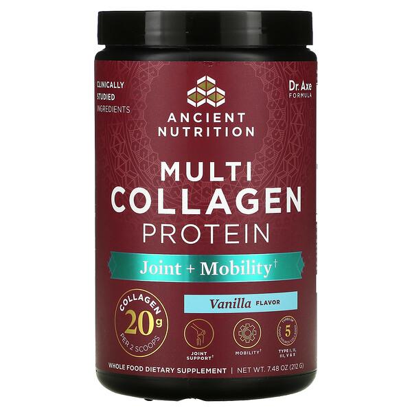 Multi Collagen Protein, Joint + Mobility, Vanilla, 7.48 oz (212 g)