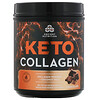 Dr. Axe / Ancient Nutrition, Keto Collagen, Collagen Protein + Coconut MCTs, Chocolate, 1.03 lb (460 g)
