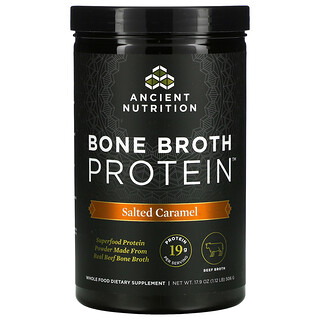 Dr. Axe / Ancient Nutrition, Bone Broth Protein, Salted Caramel, 1.12 lb (506 g)