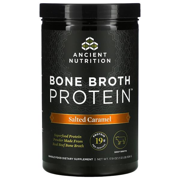 Bone Broth Protein, Salted Caramel, 1.12 lb (506 g)