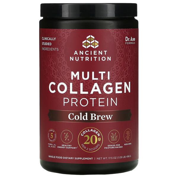 Multi Collagen Protein, Cold Brew, 1.09 lb (496 g)