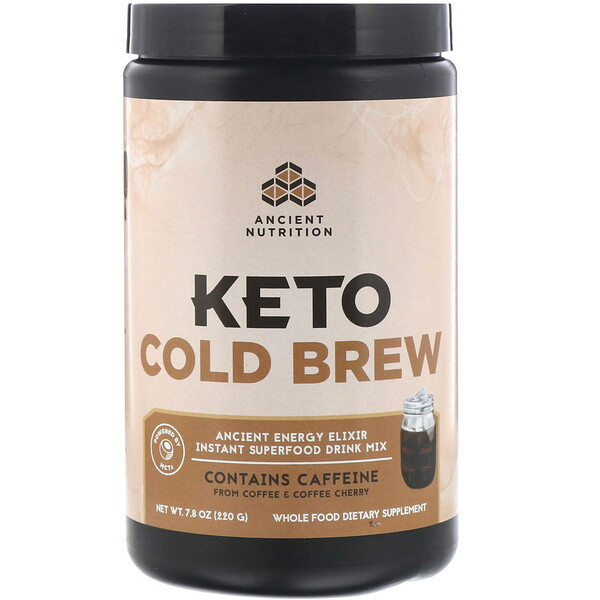 Dr. Axe / Ancient Nutrition, Keto Cold Brew, Ancient Energy Elixir, 7.8 oz (220 g)