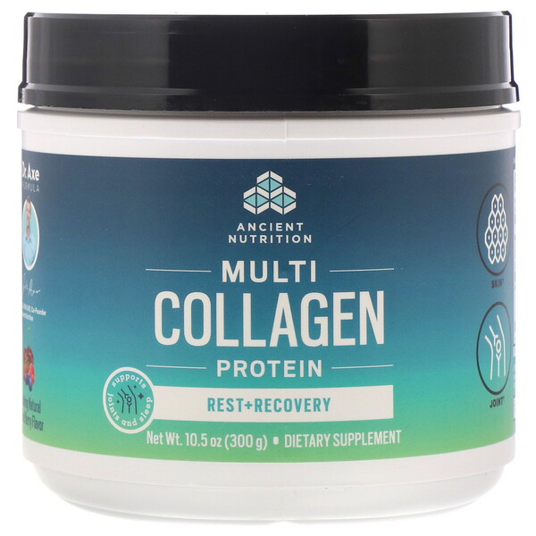 Multi Collagen Protein, Rest + Recovery, Calming Natural Mixed Berry, 10.5 oz (300 g)