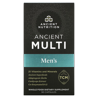Dr. Axe / Ancient Nutrition, Ancient Multi, Men's, 90 Capsules