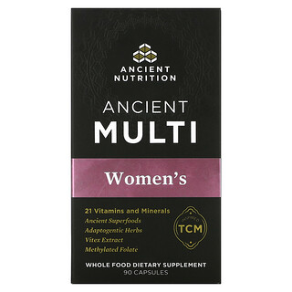 Dr. Axe / Ancient Nutrition, Ancient Multi, Women's, 90 Capsules