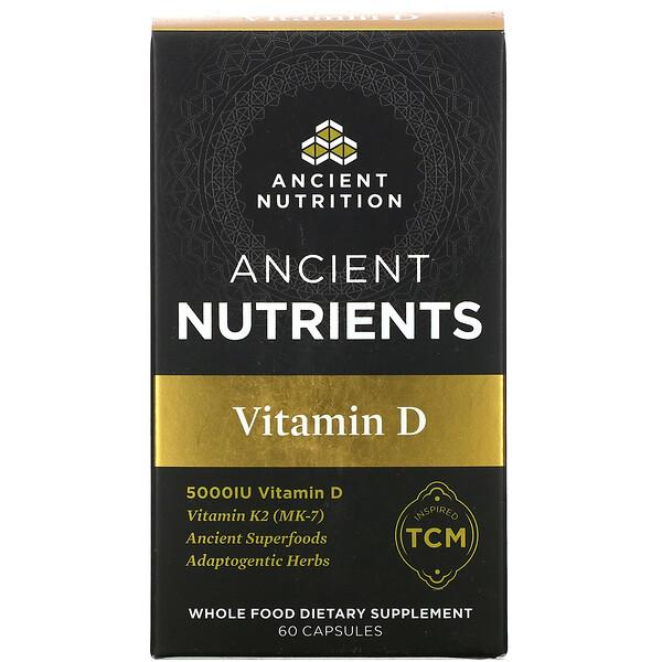Ancient Nutrients, Vitamin D, 5,000 IU, 60 Capsules
