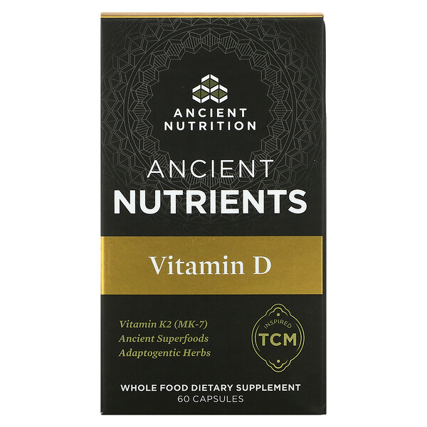 Dr. Axe / Ancient Nutrition, Ancient Nutrients, Vitamin D, 60 Capsules
