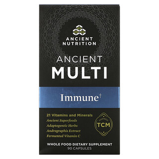 Dr. Axe / Ancient Nutrition, Ancient Multi, Immune, 90 Capsules