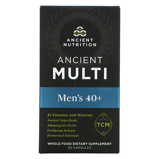 Dr. Axe / Ancient Nutrition, Ancient Multi, Men's 40+, 90 Capsules