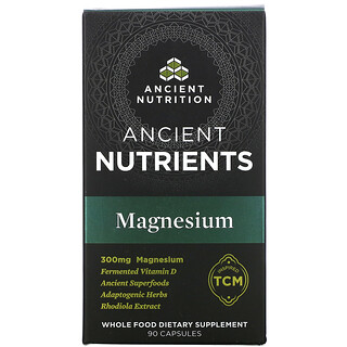 Dr. Axe / Ancient Nutrition, Ancient Nutrients, Magnesium, 300 mg, 90 Capsules
