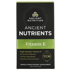 Dr. Axe / Ancient Nutrition, 維生素 E,60 粒膠囊