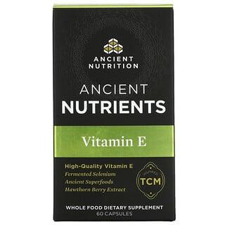 Dr. Axe / Ancient Nutrition, Vitamin E, 60 Capsules