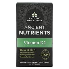 Dr. Axe / Ancient Nutrition, 古代營養素,維生素 K2,60 粒膠囊