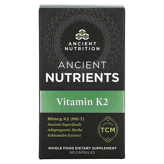 Dr. Axe / Ancient Nutrition, Ancient Nutrients, Vitamin K2, 60 Capsules