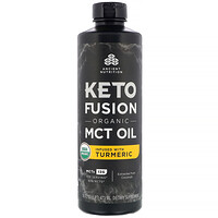 Dr. Axe / Ancient Nutrition, Keto Fusion Organic MCT Oil, Infused with Turmeric, 16 fl oz (473 ml)