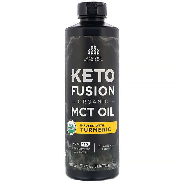Dr. Axe / Ancient Nutrition, Keto Fusion Bio-MCT-Öl, angereichert mit Kurkuma, 473 ml (16 fl. oz.)