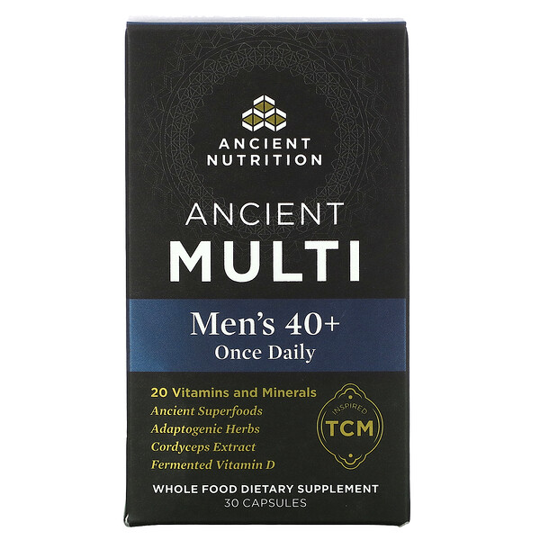 Ancient Multi, Men's 40+ Once Daily, 30 Capsules