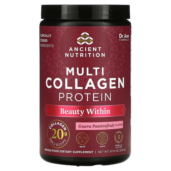 Multi Collagen Protein, Beauty Within, Guava Passionfruit , 9.74 oz (276 g)