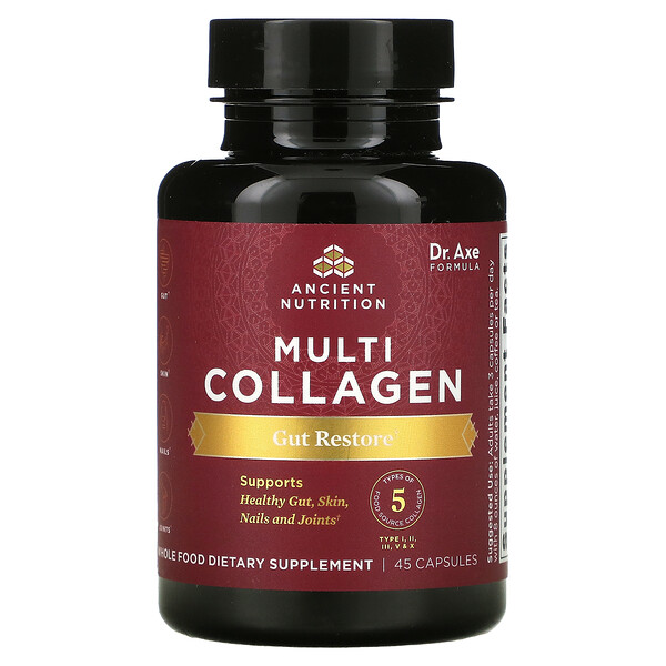 Multi Collagen, Gut Restore, 45 Capsules
