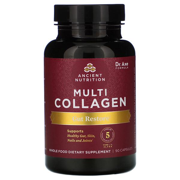 Multi Collagen, Gut Restore, 90 Capsules