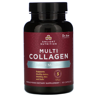 Dr. Axe / Ancient Nutrition Multi Collagen, Joint + Mobility, 90 Capsules