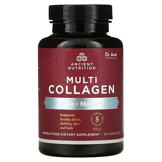 Dr. Axe / Ancient Nutrition, Multi Collagen, Joint + Mobility, 90 Capsules