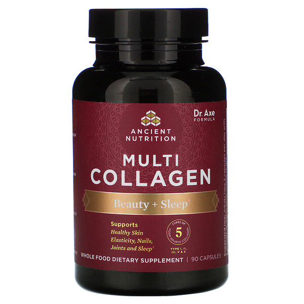 Multi Collagen, Beauty + Sleep, 90 Capsules
