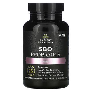 Dr. Axe / Ancient Nutrition, Women's SBO Probiotics, 25 Billion CFU, 60 Capsules