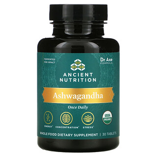 Dr. Axe / Ancient Nutrition, Ashwagandha, 30 Tablets